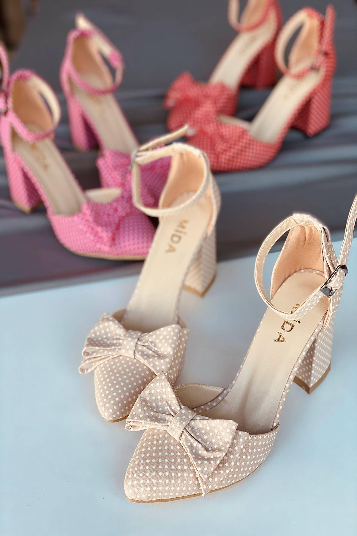 Y106 Ten Puantiye Topuklu Ayakkabı