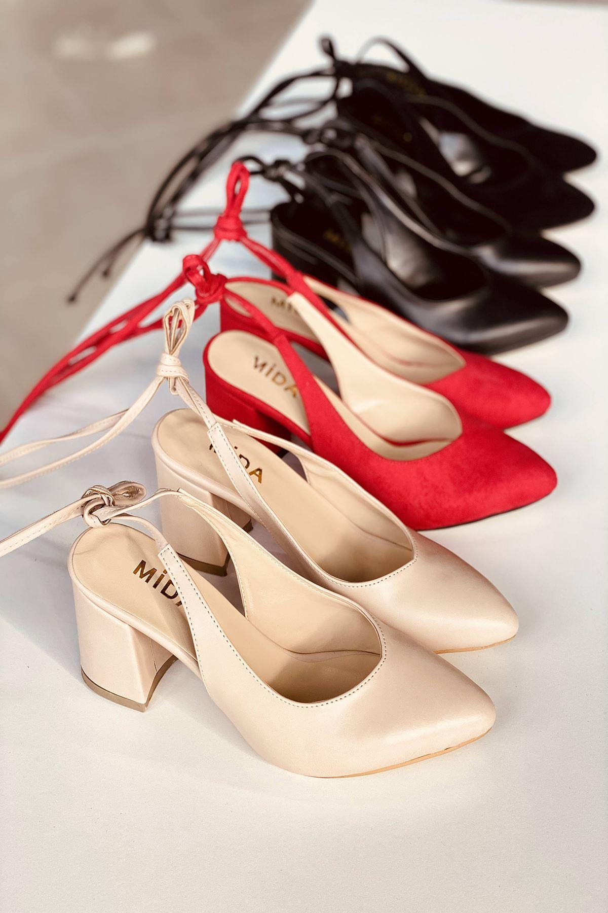 Y114 Ten Cilt Topuklu Ayakkabı