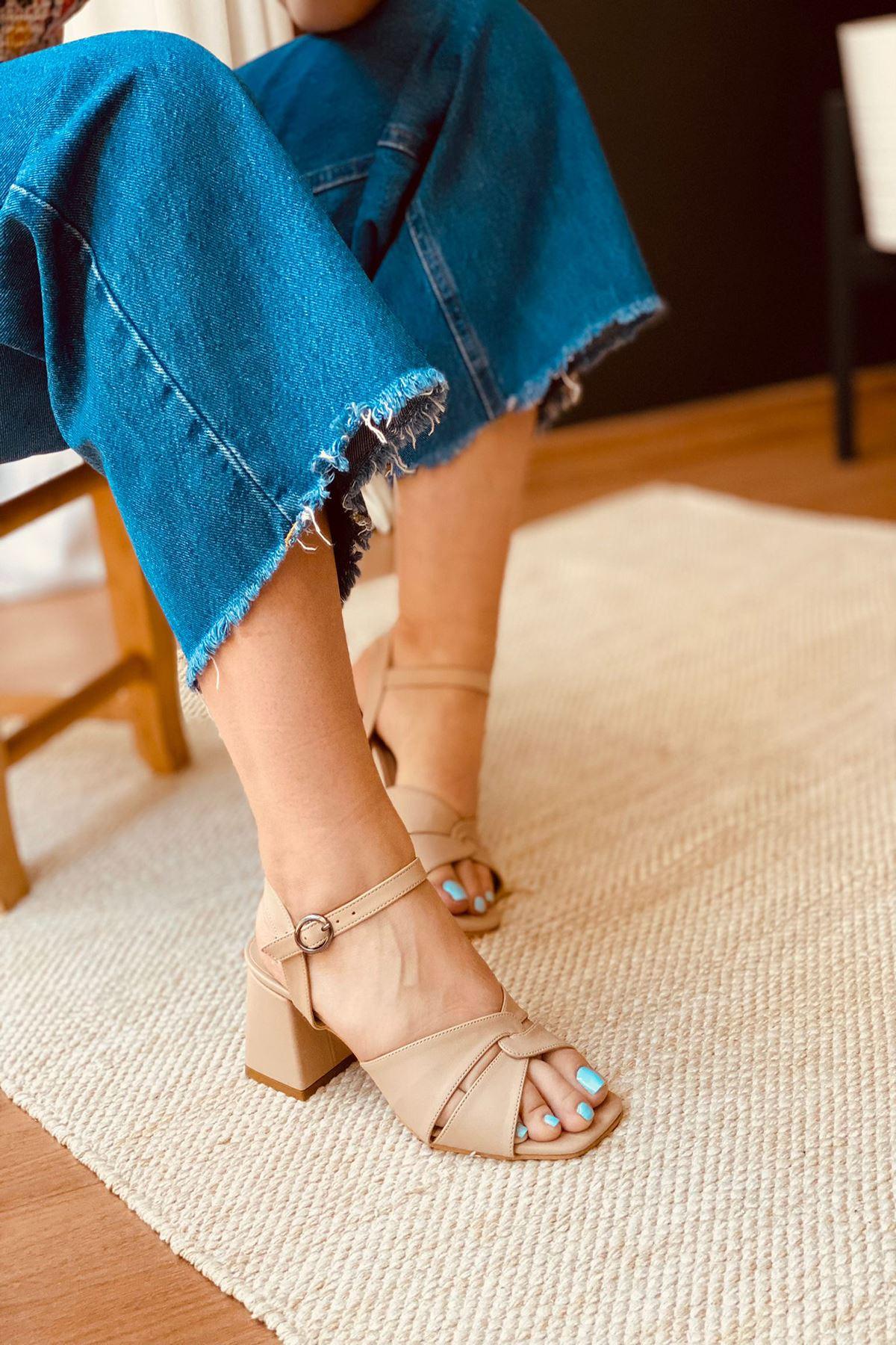 Y711 Ten Cilt Topuklu Ayakkabı