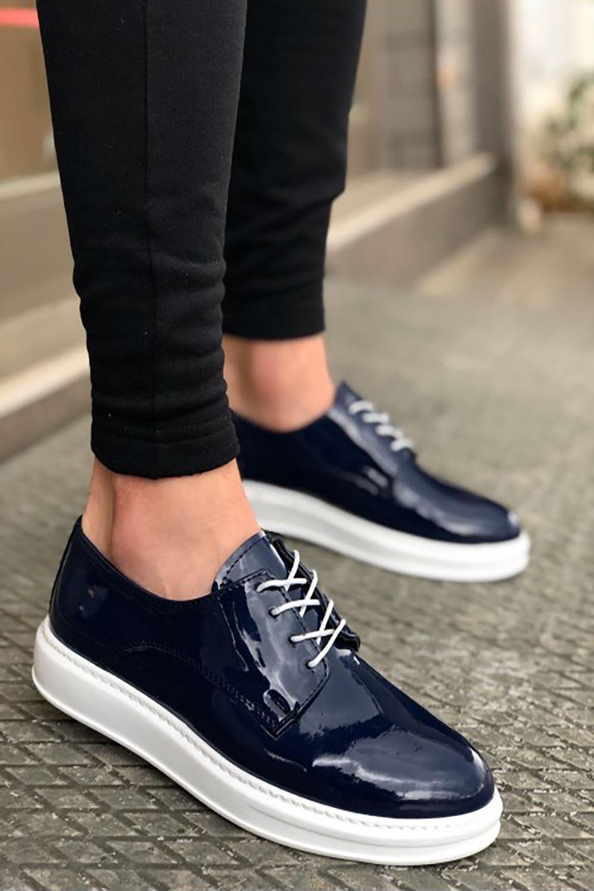 B003 Lacivert Rugan BT Klasik Ayakkabı