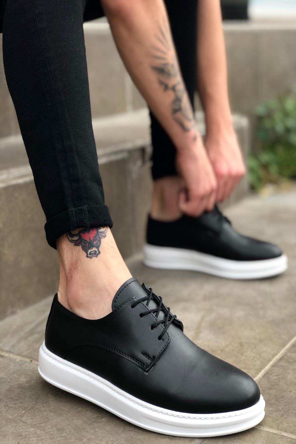 B003 Siyah Deri BT Klasik Ayakkabı