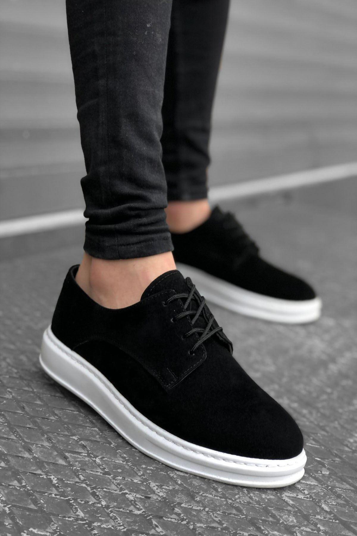 B003 Siyah Keten BT Klasik Ayakkabı