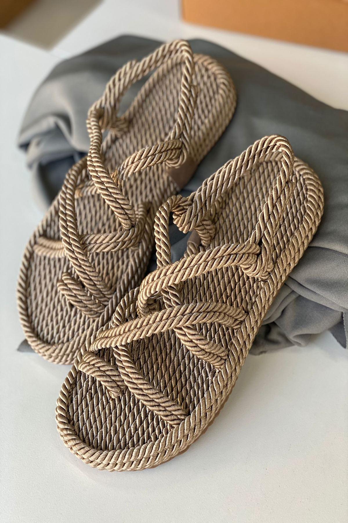 YRPH01 Altın Halat Sandalet