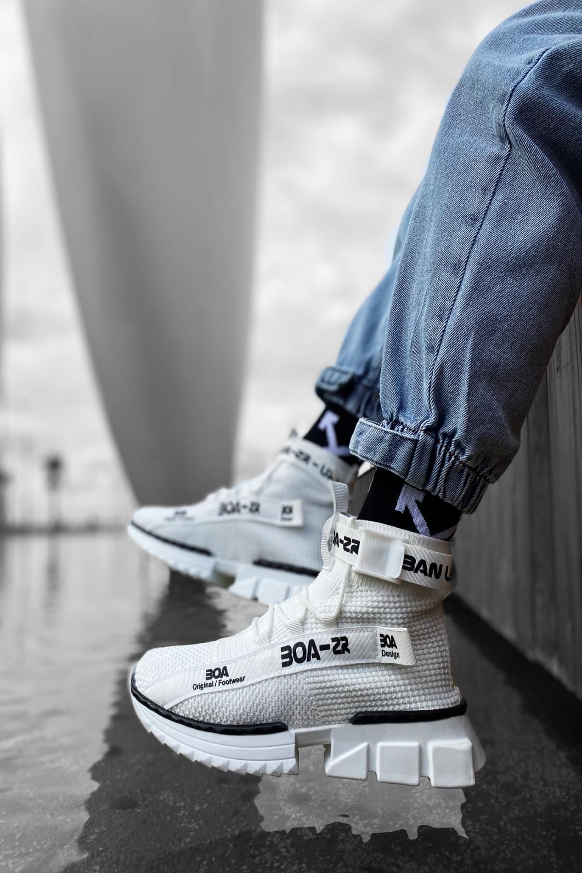 B700 Beyaz Erkek Sneakers