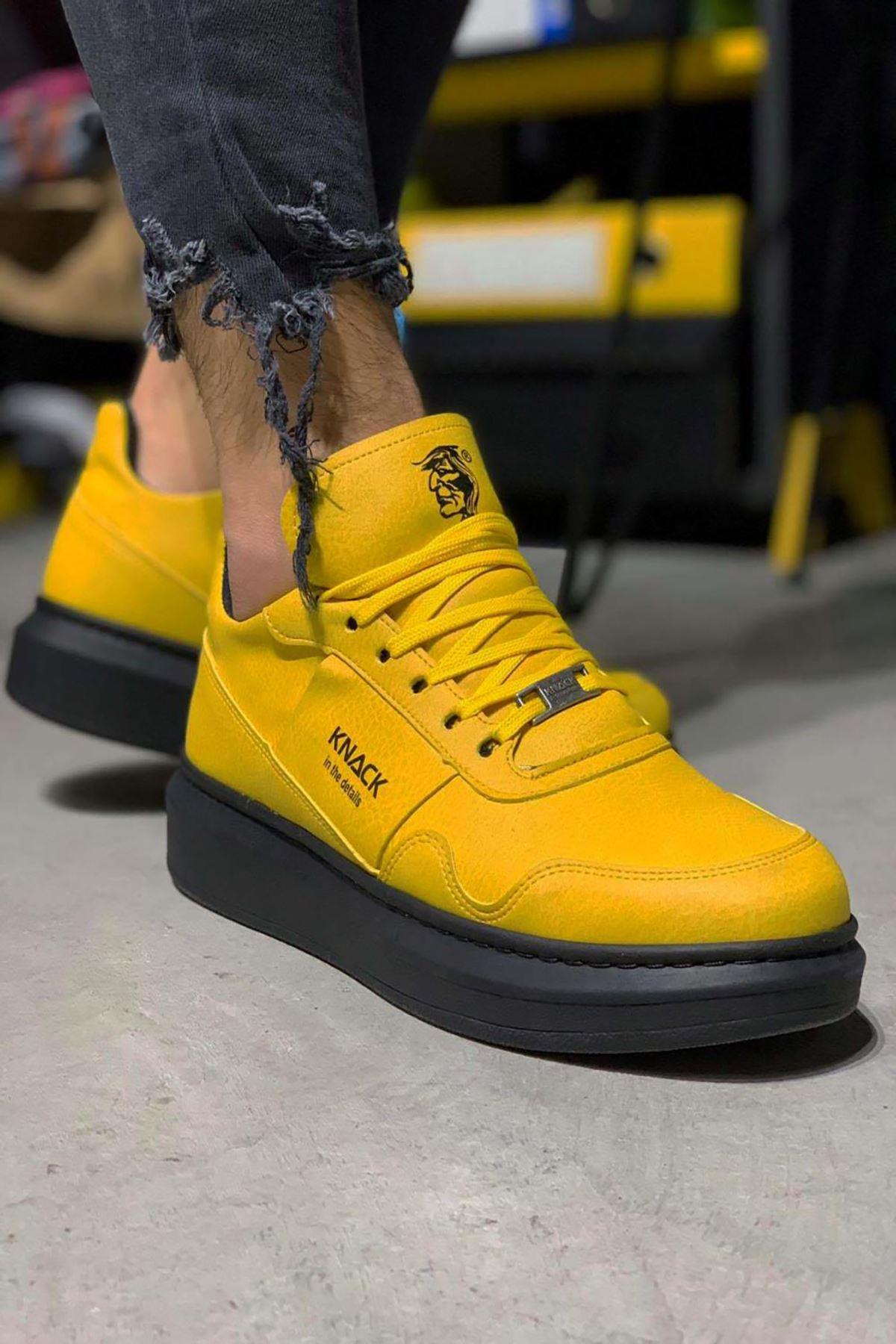 KNK040 Hardal ST Süet Spor Sneaker