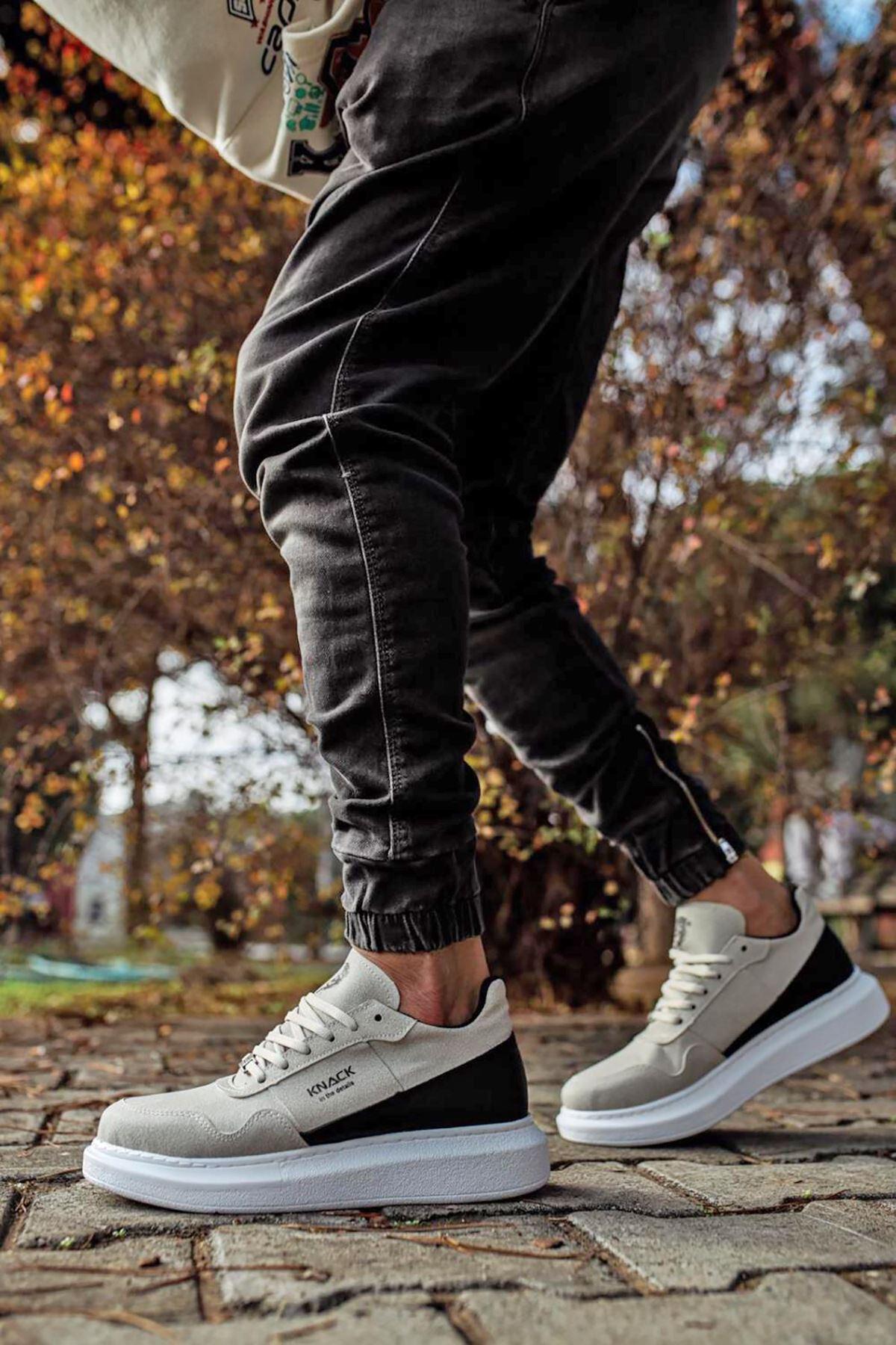 KNK040 Taş BT Süet Spor Sneakers