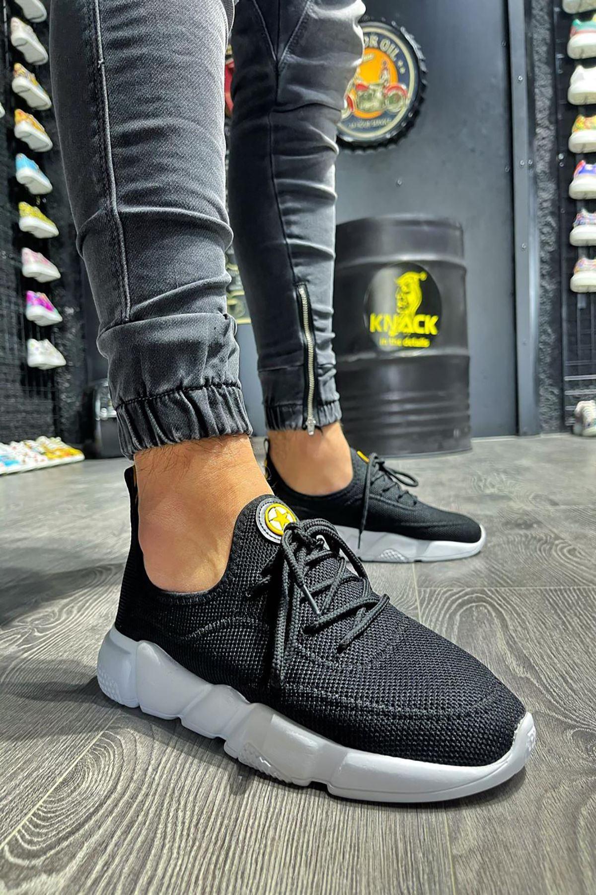 KX-300 Siyah BT Keten Spor Sneakers