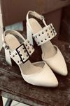 Y120 Ten Deri Topuklu Ayakkabı
