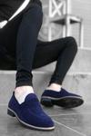 B009 Lacivert Süet Klasik Ayakkabı