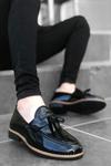 B009 Siyah Rugan Püsküllü Klasik Ayakkabı