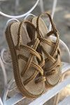 YKHS01 Altın Halat Sandalet