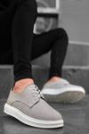 B003 Gri Keten BT Klasik Ayakkabı