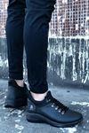B601 Siyah ST Bağcıklı Erkek Sneakers