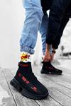 B700 Siyah Kırmızı Erkek Sneakers
