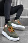 B606 Haki Kırcalı Sneaker