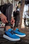 KNK040 Mavi BT Süet Spor Sneakers