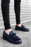 B062 Lacivert Rugan Corcik Klasik Ayakkabı