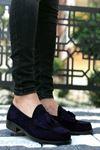 B062 Lacivert Süet Corcik Klasik Ayakkabı